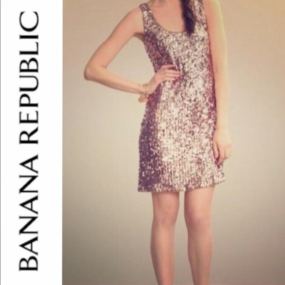a07fd5fd2b1 BR Rose-Gold Sequin Dress NWT